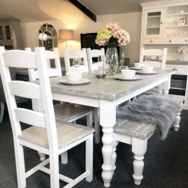 Distressed Grey - Table and Chairs