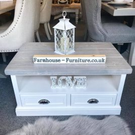 Distressed Grey Coffee Table and Side Tables